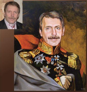 Настоящий портрет маслом на заказ в Сочи…