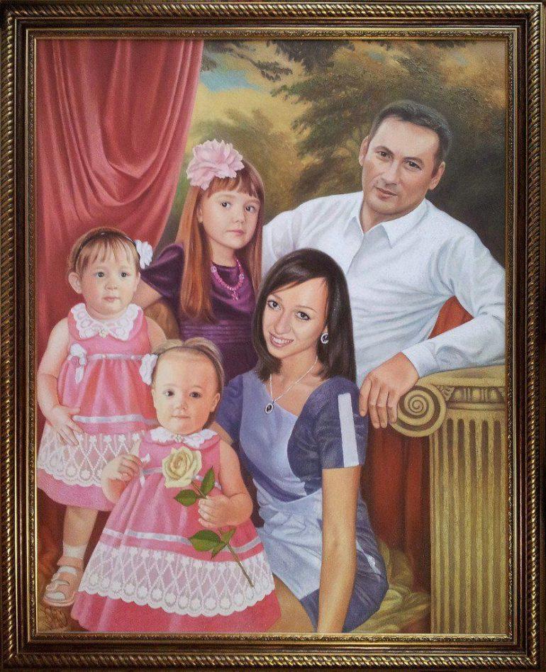 Семейный портрет маслом в Сочи — правильная традиция…