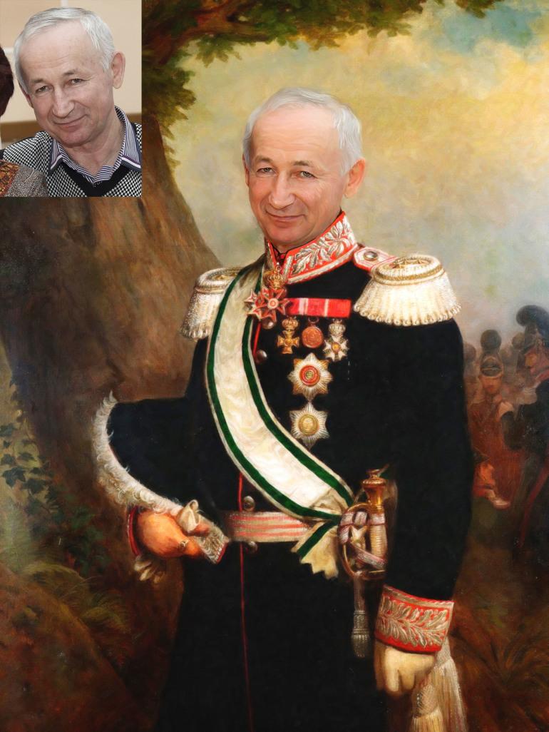 Где заказать исторический портрет по фото на холсте в Сочи?