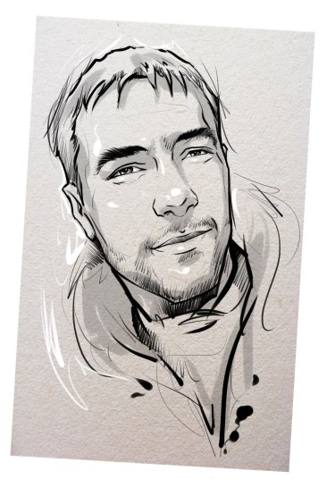 Портрет карандашом любимому мужу в Сочи…