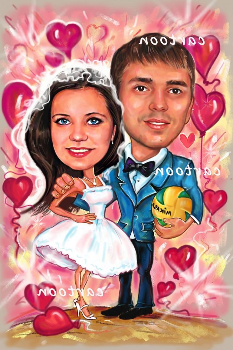 Свадебный шарж с оригинальным сюжетом в Сочи!