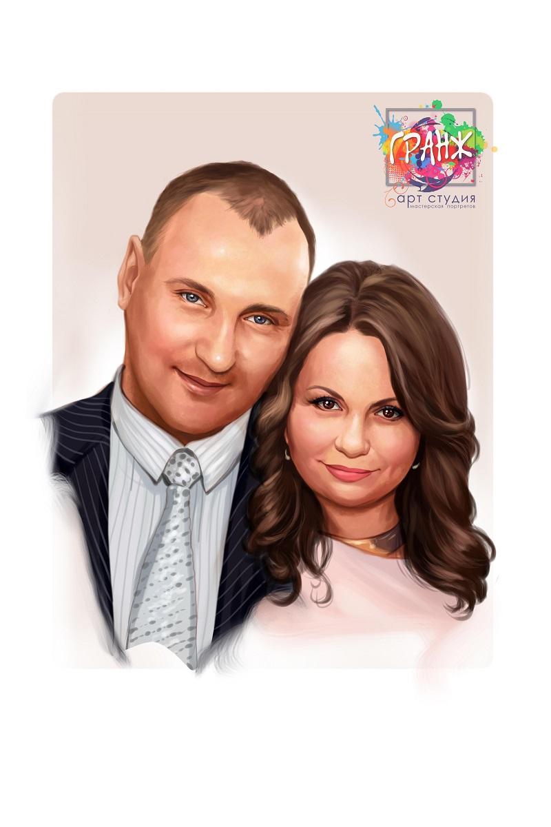 портрет по фото на 10 лет свадьбы