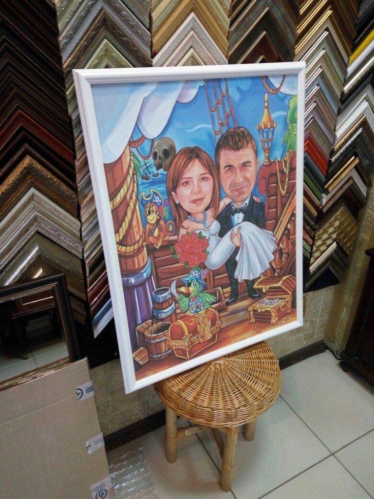 портрет шарж на заказ в Сочи