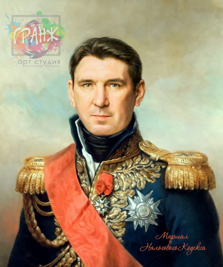 Портрет по фото на холсте в подарок мужчине на 23 февраля Сочи