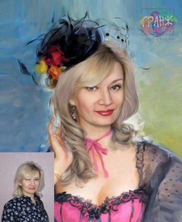 Заказать арт портрет по фото на холсте в Сочи