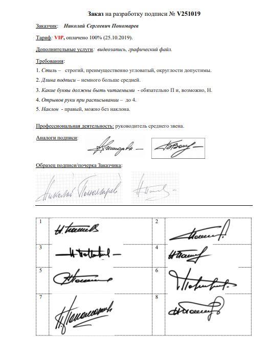 Разработка личной подписи онлайн Сочи