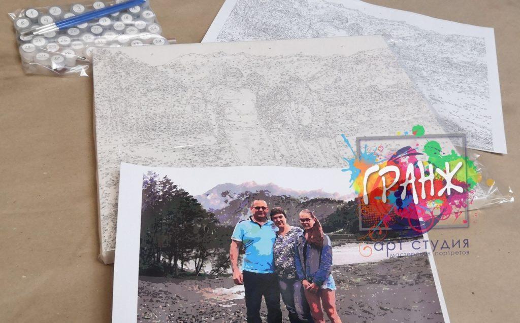 картин по номерам на холсте по фото в Сочи
