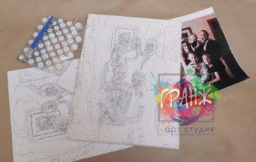 Картина по номерам по фото, портреты на холсте и дереве в Сочи